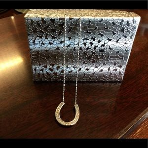 Jewelry - Diamond and 14 kt white gold necklace